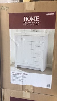 white and black wooden cabinet Jan Phyl Village, 33880