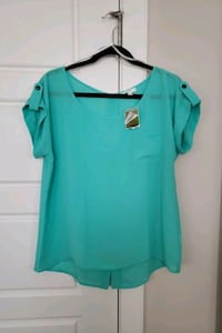 New womens real green top Calgary, T3K