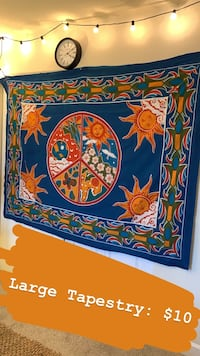 blue, red, and yellow floral painting Alexandria, 22312
