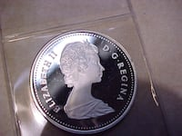 Canada 1982 Gem Mint Silver Dollar Removed From Proof Set LONDON