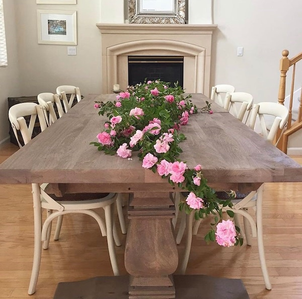 Gebrauchte Home Decorators Extendible Farm Table Zum Verkauf In Elk