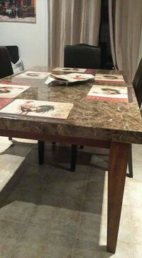 Solid Marble Table with 6 Parsons chairs Collingwood, L9Y