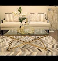 New Golden Stainless Steel Coffee Table