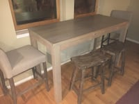 rectangular brown wooden table with four chairs dining set 41 km