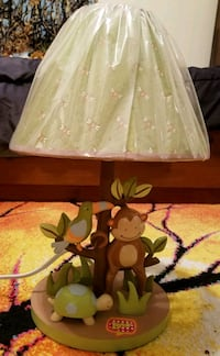 Animal lamp, new, plastic still on shade Franklin, 03235