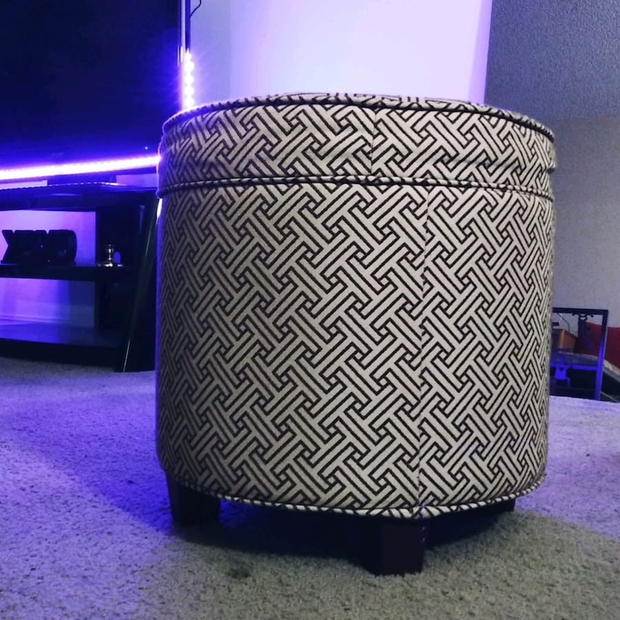cool ottoman with storage compartment