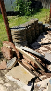 pile of concrete slabs
