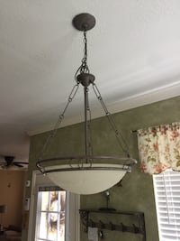 Bronze or Oil-Rubbed pendant lamp in good working condition. If you see the post, the item is available   Houston, 77024