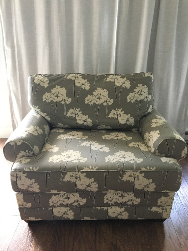 Cute and Comfortable Chair and a Half With Ottoman!!