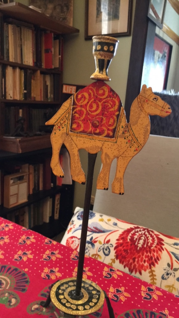 Camel candle holder from Morocco , just one