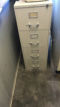 4-drawers beige filing cabinet