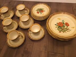 24 pcs Mikasa whole wheat oven to table to dishwasher safe dinner wear