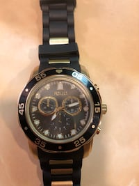 round black chronograph watch with black link bracelet Houston, 77069