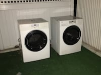 white front-load washer and dryer set New York, 11222