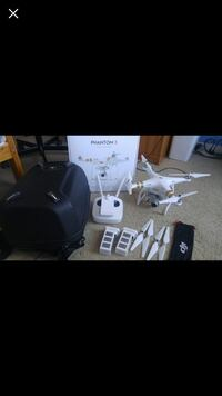White phantom 3 drone with box screenshot