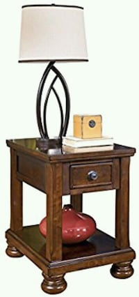 New Ashley Furniture - Porter End Table - Rustic S Houston, 77036