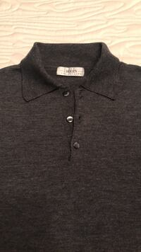 Barney's Men's Sweater The Rodin Collection Made in Italy Merino Wool Size Large  Brick, 08723