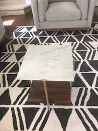 Faux Marble End Table