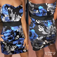 Women's blue and black floral skirt Toronto, M5H 1A1