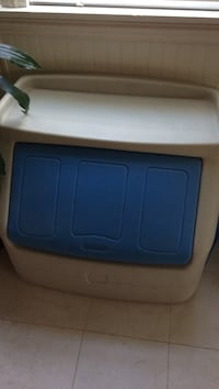 White and blue plastic step 2 toy box
