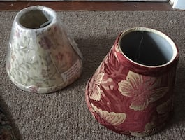 Two Small lamp shades