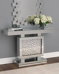 Mirrored Console Tables~Silver Mirror Home or Office Accent Table!
