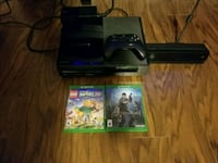 black Xbox One with controller and game cases Richmond, V6X 2P4