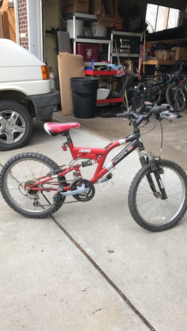 df71fba0647 Used Red Jeep Red Kids Moantain Bike for sale in Broomfield - letgo