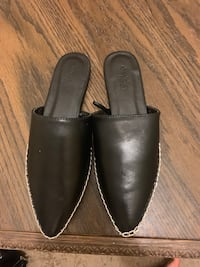 pair of black leather slip on shoes Rochester, 14608