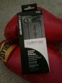 black Monster Clarity earbuds in box