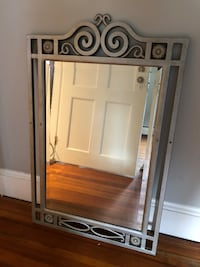 rectangular mirror with brown wooden frame 308 mi