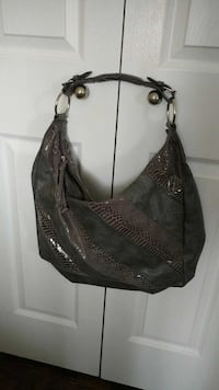 gray and faux snakeskin hobo bag (Toronto)