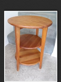$45...Wood Table, Tiered. Surrey