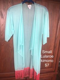 women's teal and brown long sleeve dress San Angelo