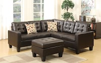 Brand new leather sectional sofa with ottoman  Silver Spring, 20902