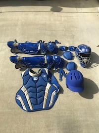 Wilson c1k catchers set, ages high school and up