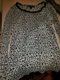 women's black and gray leopard print crew-neck long-sleeved shirt Valdosta, 31601