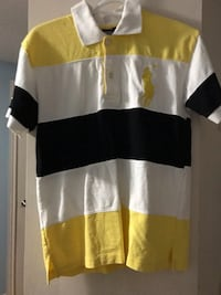 White, yellow, and black polo shirt Waterloo, N2L 4T1
