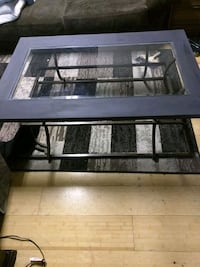 Nice glass table with lamps  Calgary, T2A 4T6
