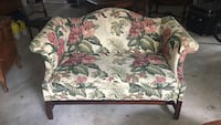 green, white, and pink floral fabric loveseat 758 mi
