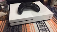Xbox  One S white with one controller black all cords included  Concord, 03301