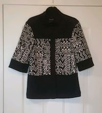 Focus 2000 Black and White Sz 4 Jacket 3/4 Sleeve with 2 way Collar Vienna, 22180