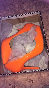Orange Neon Stilettos - Size 8 - Never worn!
