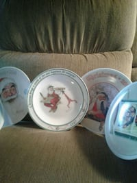 Norman Rockwell Christmas plates.18 in all