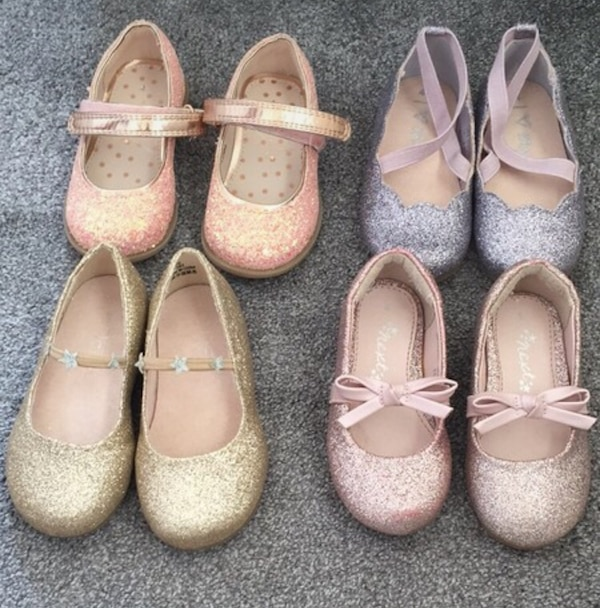 Baby girl glitter four pairs of shoes