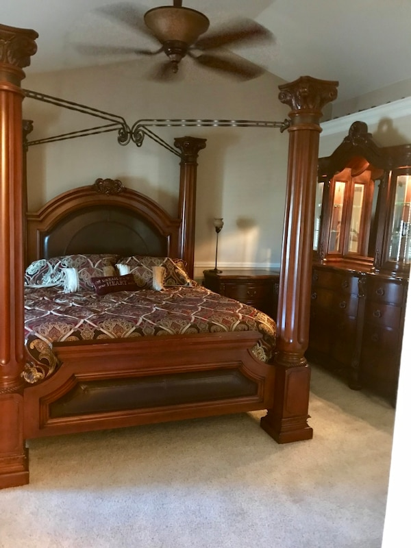 used cal king bedroom set 3 piece for sale in fresno - letgo
