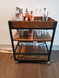 Rustic Bar/serving cart with removable tray top Dallas, 75207