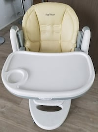 baby's white and gray highchair Vancouver