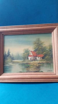 brown wooden framed painting of house near body of water Fresno, 93726