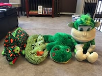 four assorted animal plush toys 3124 km